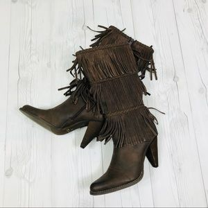 Very Volatile Rural Fringe Faux Leather Boots
